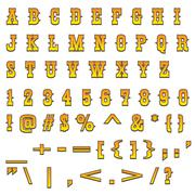 Western alphabet Stock Illustration