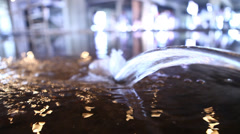 Closeup shot of water background Stock Footage