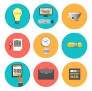 business work elements - stock illustration