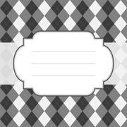 Classic style argyle background - stock illustration