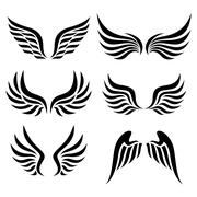 Wings set Stock Illustration