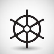 Wheel. Vector symbol - stock illustration