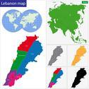 Lebanon map Stock Illustration