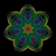 Colourful symmetric design Stock Illustration