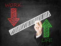 Stock Illustration of life/ work balance