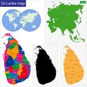 Sri Lanka map Stock Illustration