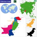 Pakistan map Stock Illustration
