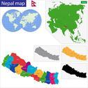 Republic of Nepal Stock Illustration
