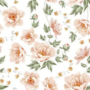 Flower samless pattern. Stock Illustration