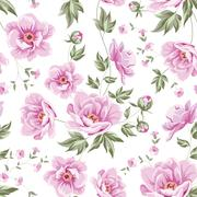 Stock Illustration of floral tile pattern.
