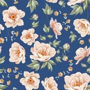 floral tile pattern. - stock illustration