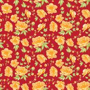 Stock Illustration of flower samless pattern.