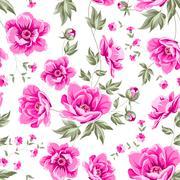 Elegant seamless peony pattern. Stock Illustration