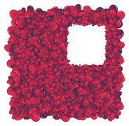 Hearts invasion frame - stock photo