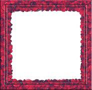Hearts invasion portrait frame - stock photo