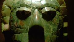 Mayan jade mask Stock Footage