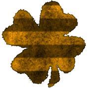 Shamrock burnt parchment Stock Illustration