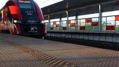 Railway station. Stadion . Warsaw Stock Footage