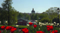 4K   Sunny weekend day in park of Tsaritsyno homestead in Moscow. Footage