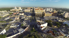 Flying Over Downtown Coral Gables, Florida Stock Footage