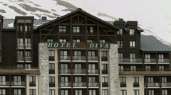 Hotel Diva in Tignes 01 UHD 4K - stock footage