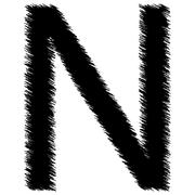 Scribble alphabet letter - N - stock illustration