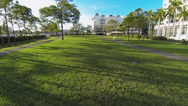 Stock Video Footage of Beautiful long shot from ground to air in a park located in Coral Gables, FL