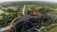 Aerial Footage of the Biltmore Hotel in Coral Gables, Florida Stock Footage