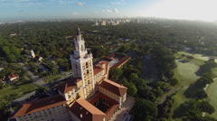 Aerial of the Biltmore Hotel Stock Footage