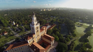 Stock Video Footage of Aerial of the Biltmore Hotel