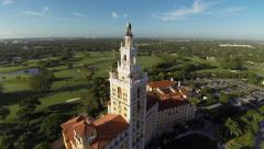 The Biltmore Hotel Aerial View Stock Footage
