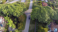 Traffic Circle and Water Fountain, aerial view Stock Footage