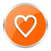 Orange web button Stock Illustration