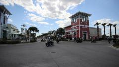 Motor Cycle Ralley Timelapse - Pier Park Thunder Beach, Panama City Beach Stock Footage