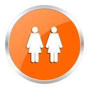 orange web button - stock illustration