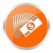 Stock Illustration of orange web button