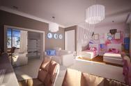 Stock Illustration of interior children's bedroom