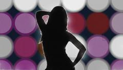 Sexy vintage dancer flashing background - 1080p Stock Footage