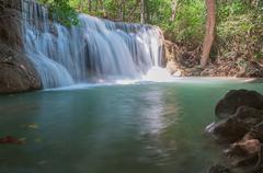 waterfall huay mae kamin park - stock photo