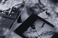 photo album with copy space - stock illustration