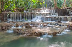 Waterfall huay mae kamin park Stock Photos