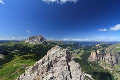 Dolomiti - alta Val Gardena Stock Photos