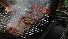 shish kebab - stock footage