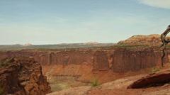 Stock Video Footage of Canyonlands National Park Islands in the Sky Juniper Overlook Pan Medium