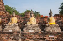 buddha at wat yai chai mongkol - stock photo