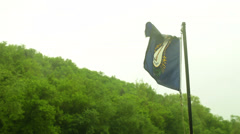 Kentucky state flag Stock Footage