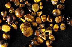 Tiger eye stones Stock Photos