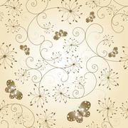 Abstract butterfly dandelion seamless pattern - stock illustration