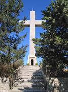 Stock Photo of crucifix on mount filerimos
