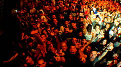 concert crowd in South America 1 - stock footage